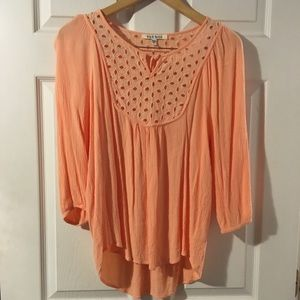 Black rainn Peach BoHo top